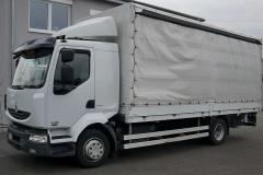 Biały samochód ciężarowy Renault